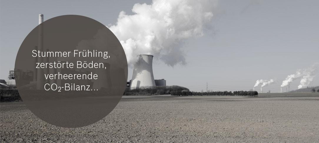 zerstörte Böden und verheerende CO2-Bilanz